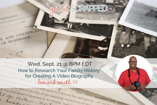 How to Research Your Family History for Creating A Video Biography | Live Masterclass With Leonard Smith III