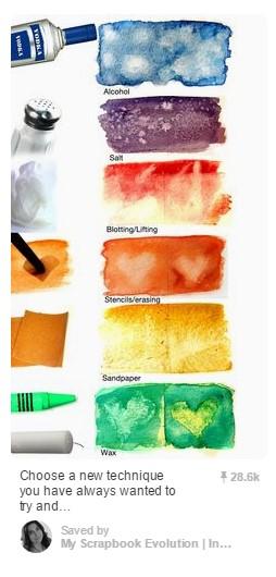 Pin No. 1 - Watercolor Texture Techniques