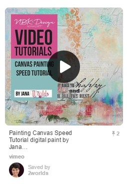 Pin No. 2 - Canvas Painting Tutrorial