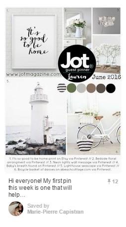 Pin No. 3 - Jot Magazine Mood Board