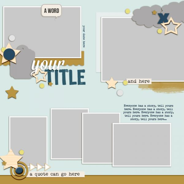 Scrapbook Page Sketch and Template #116 | Get It Scrapped