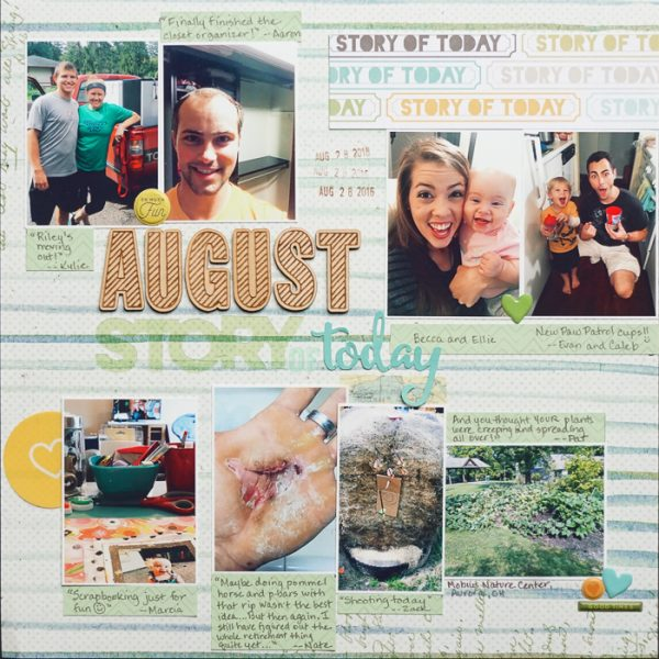 Scrapbook Page Sketch and Template #116 | Marcia Fortunato | Get It Scrapped