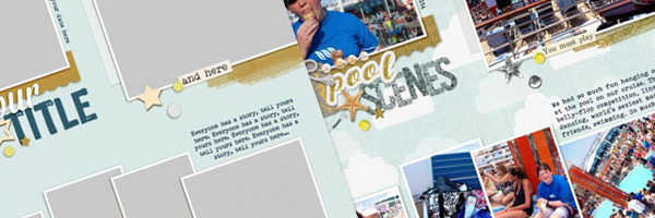 Scrapbook Page Sketch and Template #116