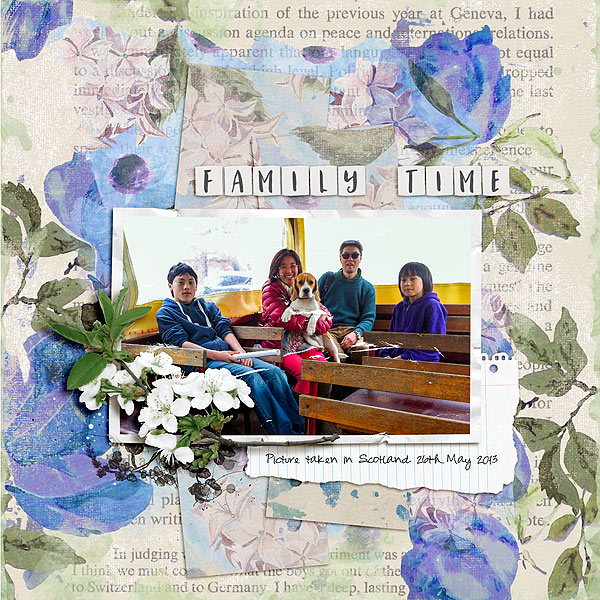 Ideas for Scrapbook Page Storytelling with an English Countryside Style   Aufrey Tan   Get It Scrapped