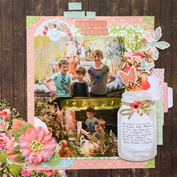 Ideas for Scrapbook Page Storytelling with an English Countryside Style | Kristy T | Get It Scrapped