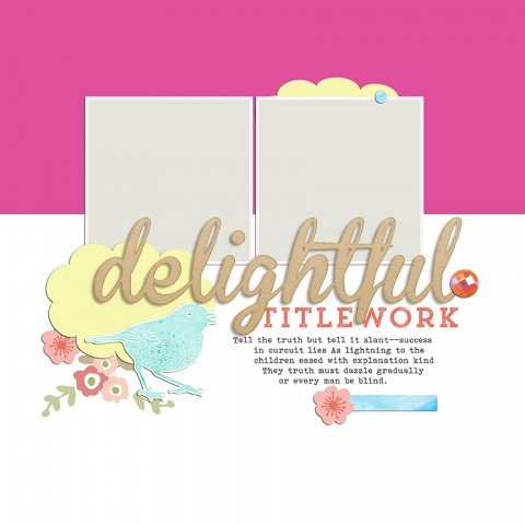 Scrapbook Page Sketch and Template #117 | Get It Scrapped