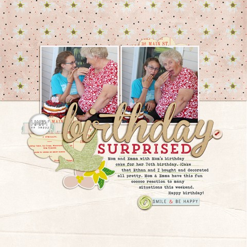 Scrapbook Page Sketch and Template #117 | Debbie Hodge | Get It Scrapped
