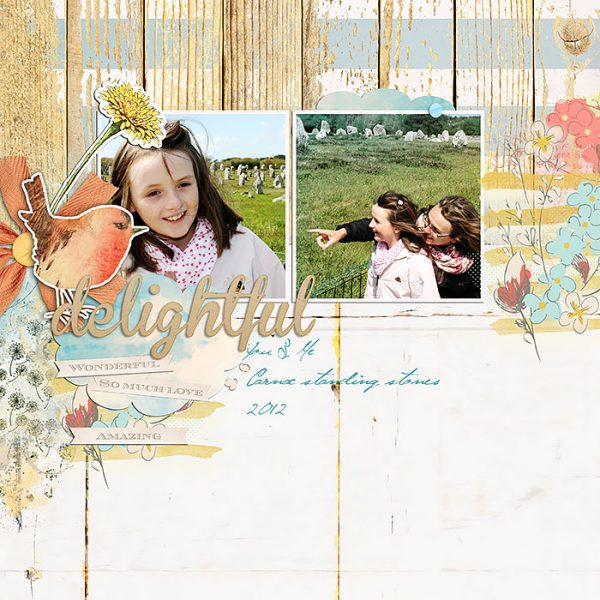 Scrapbook Page Sketch and Template #117 | Lynn Grieveson | Get It Scrapped