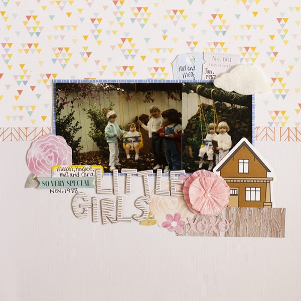 Scrapbook Page Sketch and Template #117 | Megan Blethen | Get It Scrapped
