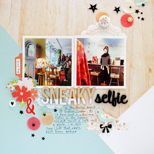 Scrapbook Page Sketch and Template #117 | Sian Fair | Get It Scrapped