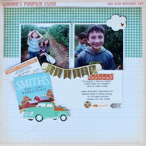 Scrapbook Page Sketch and Template #117 | Shanna Hystad | Get It Scrapped