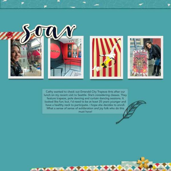 Scrapbook Page Challenge: Make a Clean and Simple Scrapbook Page | Karen Poirier-Brode | Get It Scrapped