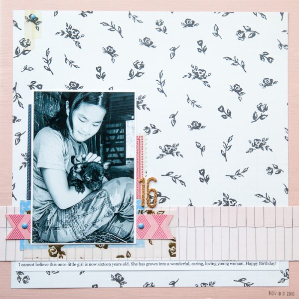 Scrapbook Page Challenge: Make a Clean and Simple Scrapbook Page | Kelly Sroka | Get It Scrapped