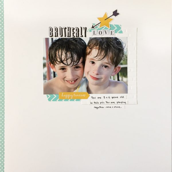 Scrapbook Page Challenge: Make a Clean and Simple Scrapbook Page | Kristy T | Get It Scrapped