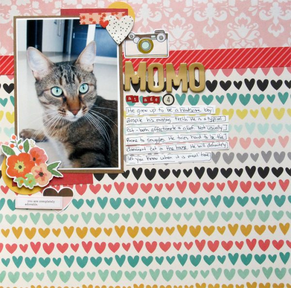 """Scrapbook Page Challenge: Mix colors and patterns using the """"Gallon, Quart, Pint Formula"""" 