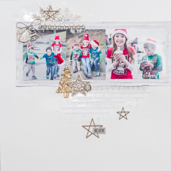 Scrapbook Pages Inspired by the Nordic Christmas Style | Kristy T | Get It Scrapped