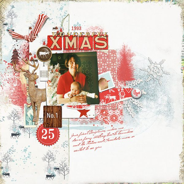 Scrapbook Pages Inspired by the Nordic Christmas Style | Lynn Grieveson | Get It Scrapped