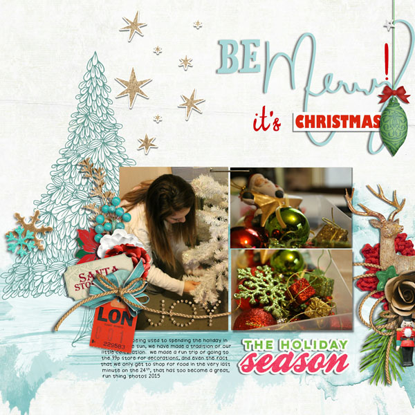 3 Design Solutions that Give Complementary Colors Red and Green New Life on Your Holiday Pages   Cynthia T.   Get It Scrapped