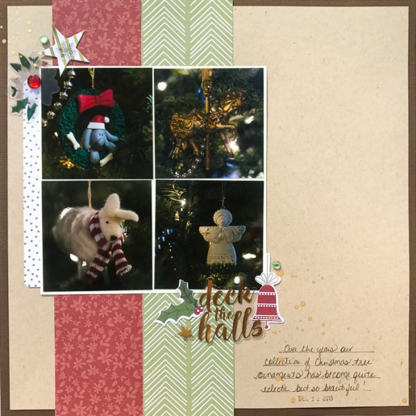 3 Design Solutions that Give Complementary Colors Red and Green New Life on Your Holiday Pages   Kelly Sroka   Get It Scrapped