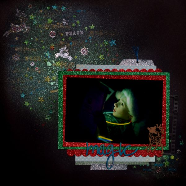 3 Design Solutions that Give Complementary Colors Red and Green New Life on Your Holiday Pages   Kristy T.   Get It Scrapped