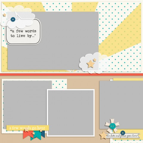 Scrapbook Page Sketch and Template #118 | Get It Scrapped