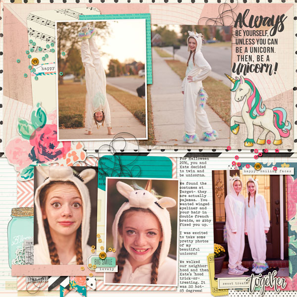 Scrapbook Page Sketch and Template #118 | Kelly Prang | Get It Scrapped