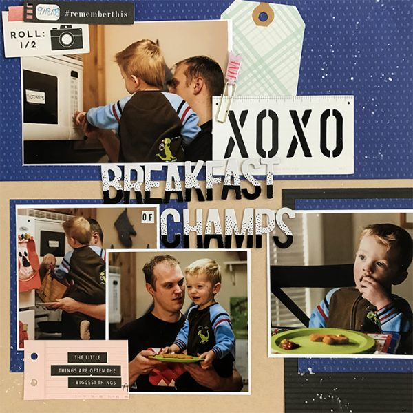 Scrapbook Page Sketch and Template #118 | Megan Blethen | Get It Scrapped