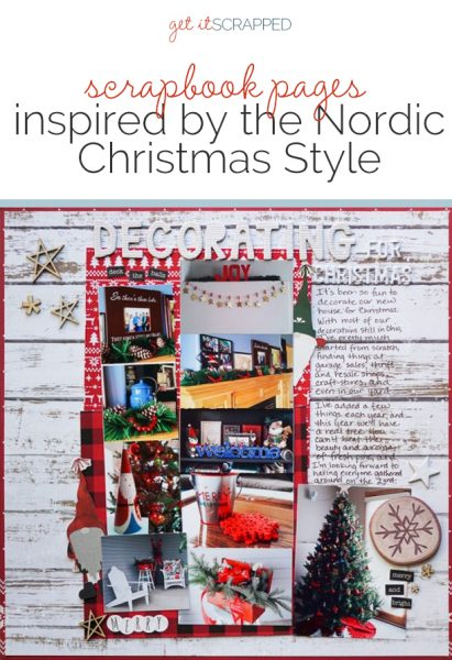 Scrapbook Pages Inspired by the Nordic Christmas Style | Get It Scrapped