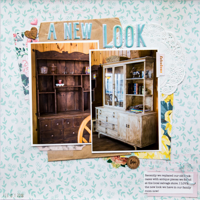 Scrapbook Pages Inspired by the Flea Market Style | Kelly Sroka | Get It Scrapped