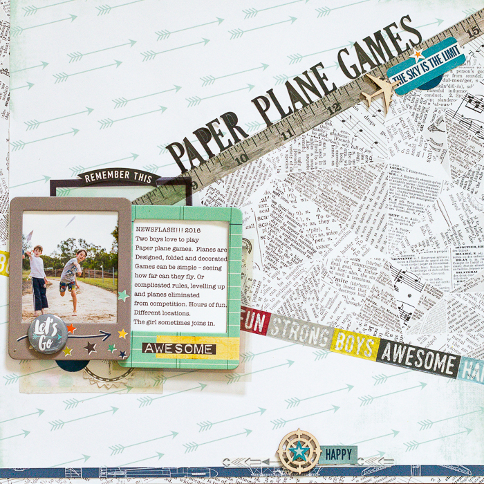 Scrapbook Ideas for Using Meaningful Shapes and Silhouettes in Your Scrapbook Page Foundations | Kristy T | Get It Scrapped