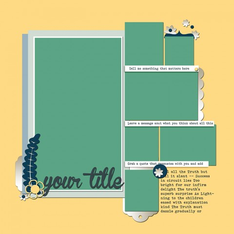 Scrapbook Page Sketch and Layered Template #120 | Get It Scrapped