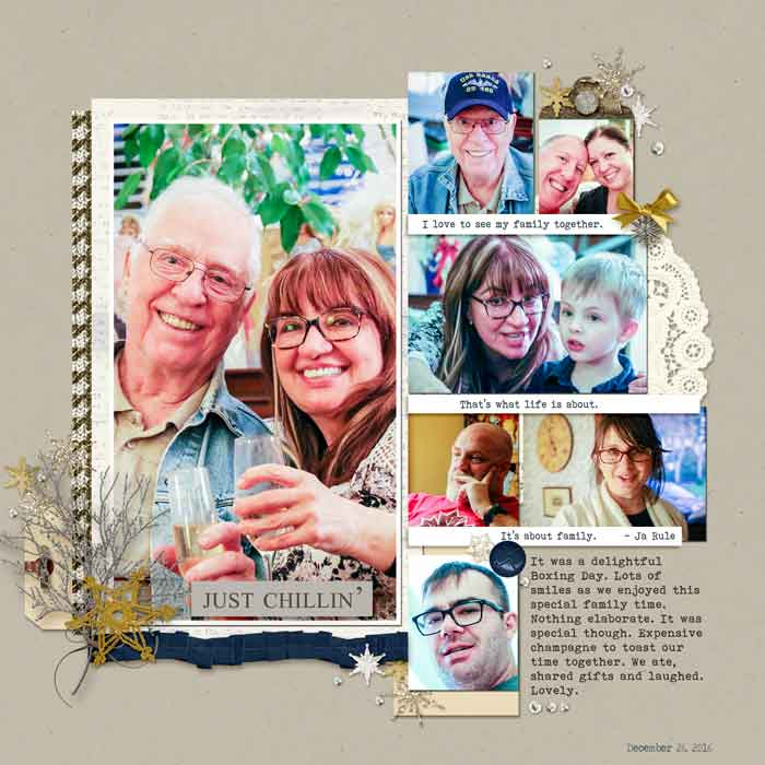Scrapbook Page Sketch and Layered Template #120 | Karen Poirier-Brode | Get It Scrapped