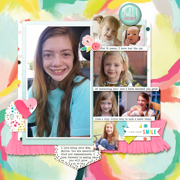 Scrapbook Page Sketch and Layered Template #120 | Kelly Prang | Get It Scrapped