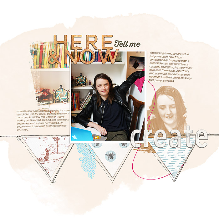 "Scrapbook Page Storytelling Inspired by the ""Humans of New York"" Blog 