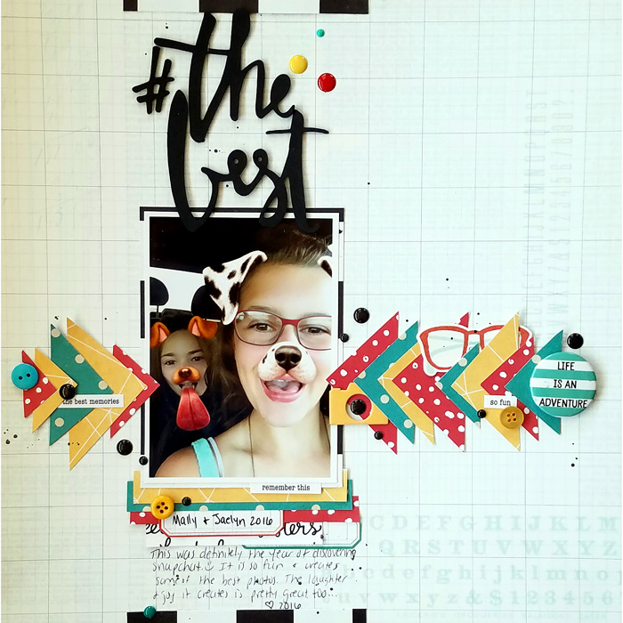 Scrapbook Ideas for Incorporating Impact in a Limited Color Palette | Nicole Mackin | Get It Scrapped