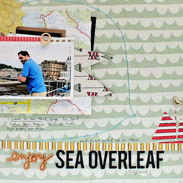 Scrapbook Ideas for Thinking OUTSIDE of the Canvas | Sian Fair | Get It Scrapped