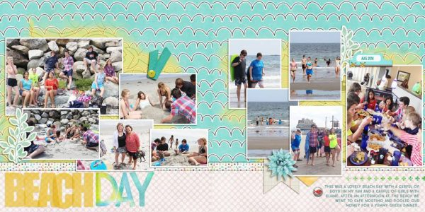 Scrapbook Page Sketch and Layered Template #121 | Debbie Hodge | Get It Scrapped