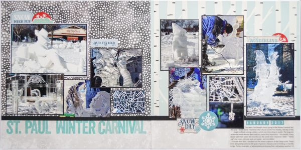 Scrapbook Page Sketch and Layered Template #121 | Marcia Fortunato | Get It Scrapped