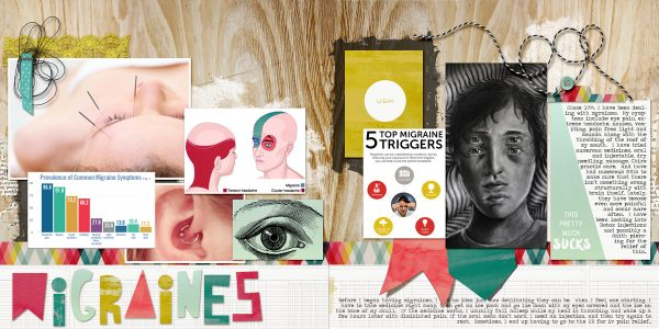 Scrapbook Page Sketch and Layered Template #121 | Kelly Prang | Get It Scrapped