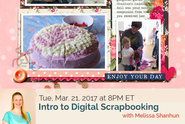Intro to Digital Scrapbooking | Free LIVE Masterclass With Melissa Shanhun