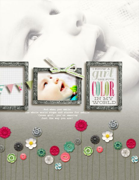 Scrapbook Ideas for Combining Embellishments on The Page | Amy Kingsford | Get It Scrapped
