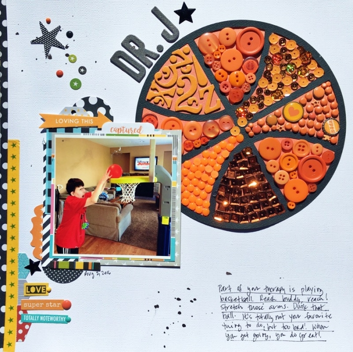 Scrapbook Ideas for Combining Embellishments on The Page | Devra Hunt | Get It Scrapped