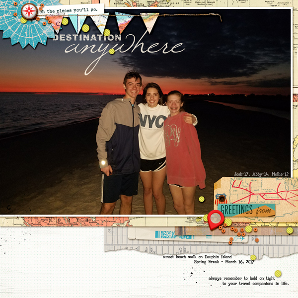 Scrapbook Ideas for Combining Embellishments on The Page | Kelly Prang | Get It Scrapped