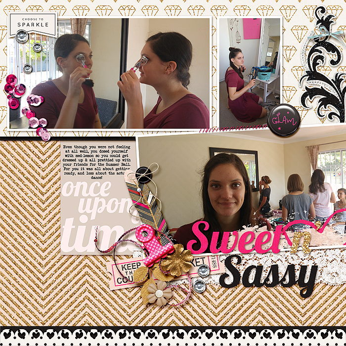 Scrapbook Ideas for Combining Embellishments on The Page | Stefanie Semple | Get It Scrapped