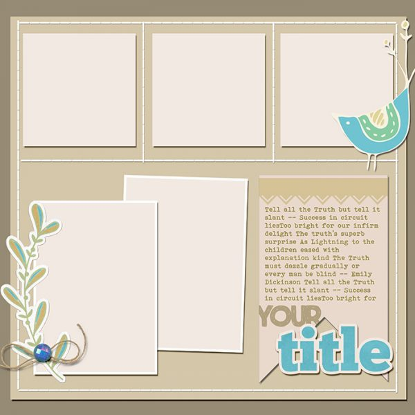 Scrapbook Page Sketch and Template #122 | Get It Scrapped
