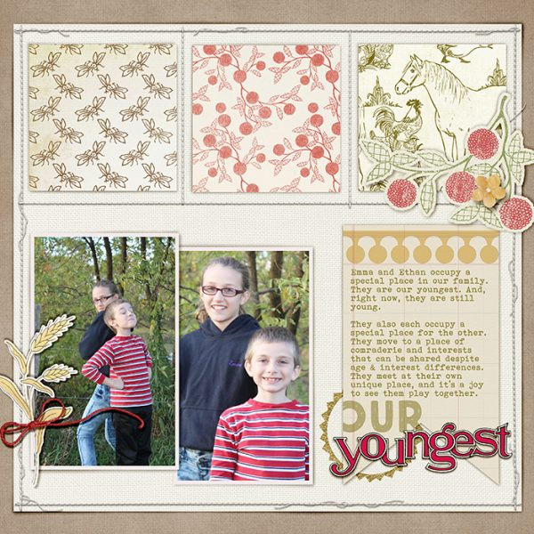 Scrapbook Page Sketch and Template #122 | Debbie Hodge | Get It Scrapped