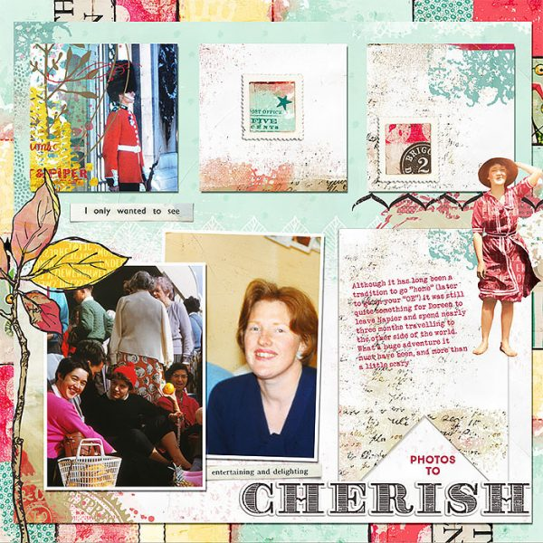 Scrapbook Page Sketch and Template #122 | Lynn Grieveson | Get It Scrapped