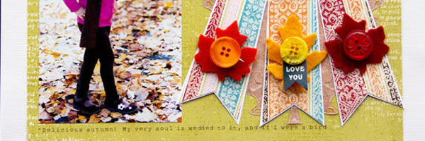 Scrapbook Ideas for Combining Embellishments in Clusters, Stacks, Series and More | Page Guide No. 14