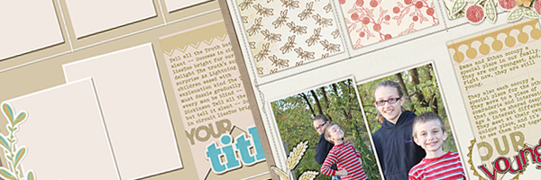 Scrapbook Page Sketch and Template #122