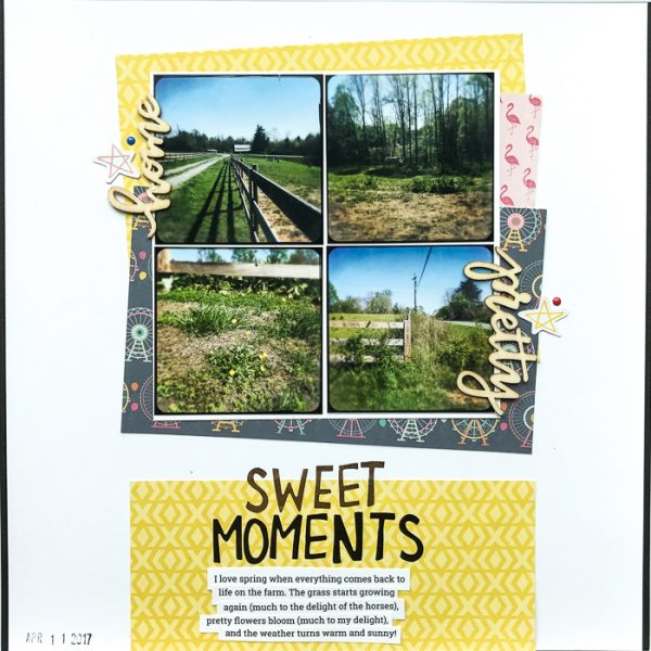 Scrapbook Ideas for Bringing Contrasting Styles Together On Your Page | Kelly Sroka | Get It Scrapped